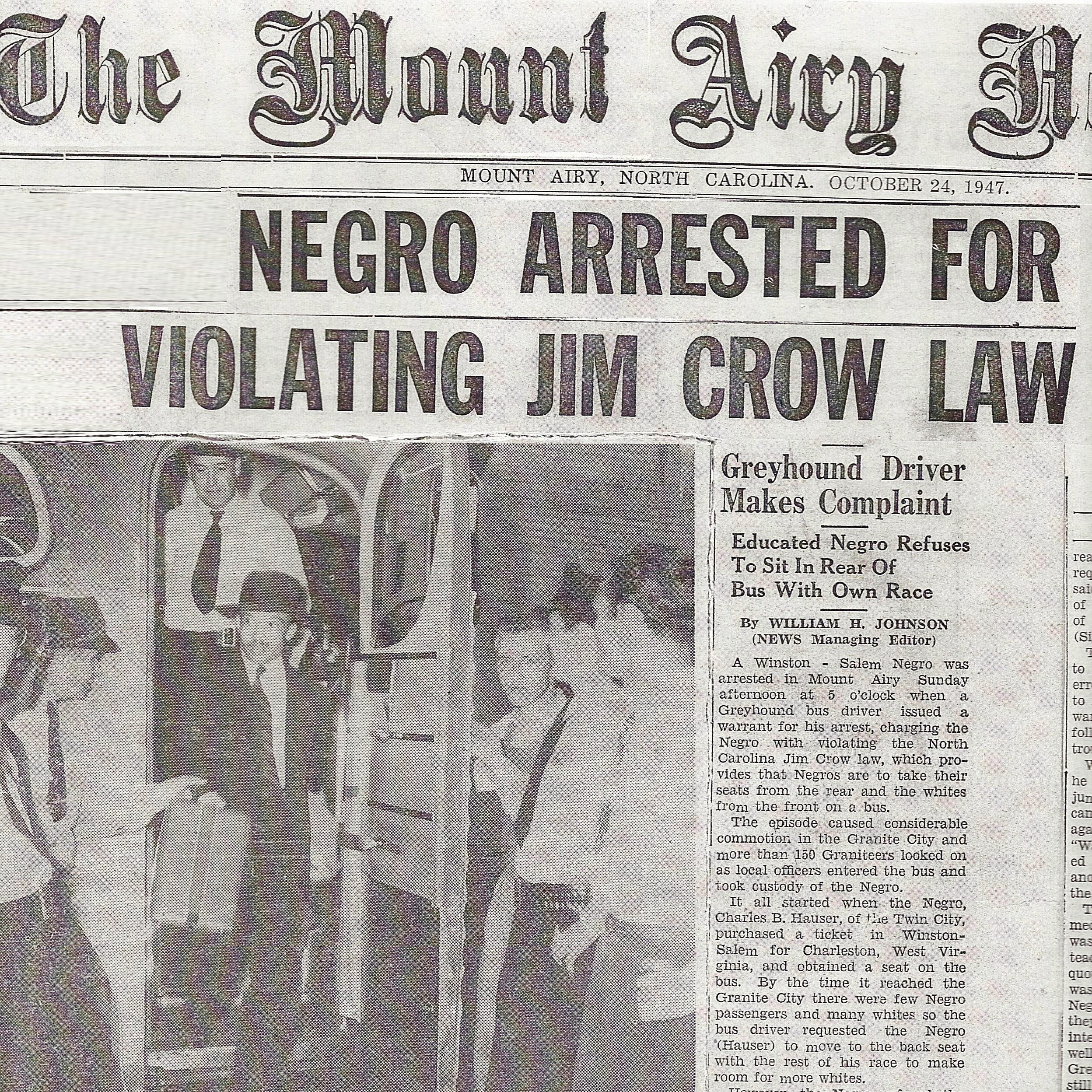 Negro Arrested