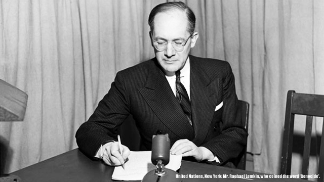 United Nations, New York: Mr. Raphael Lemkin, who coined the word 'Genocide'.