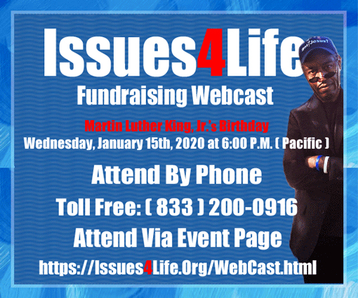 Issues4Life Foundation Fundraising Webcast